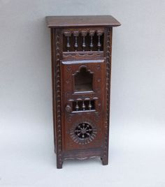 Armoires & Wardrobes Antiques Breton Quimper French Antique Doll Furniture 2 Door Armoire Fancy Colours