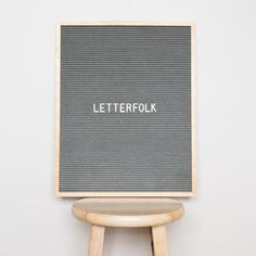 """Letterfolk Writer Grey 16"""" x 20"""" grey felt letter board is the perfect accent piece for any home or business with its unique grey felt and light oak frame."""