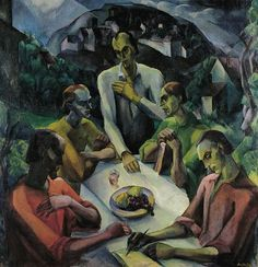 "Gyula Derkovits ""The Last Supper"", 1922 (Hungary, Expressionism, 20th cent.)"