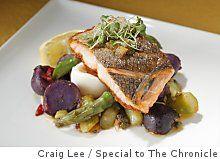 Sauteed Crispy Skinned Local King Salmon— SFGate Food & Wine