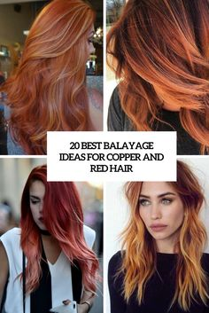 best balayage ideas for red and copper hair cover
