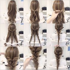 Cute easy hairstyle to do when in a hurry; Topsy Tail Braid  Reached #1000repins !!! Thank you !!