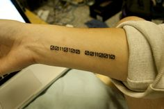 Binary tatoo