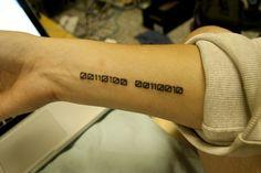 Binary tatoo