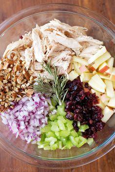 Cranberry Pecan Chicken Salad - Life Made Simple salad salad salad recipes grillen rezepte zum grillen Green Veggies, Fresh Vegetables, Fruits And Veggies, Pecan Chicken Salads, Chicken Salad Recipes, Simple Chicken Salad, Chicken Salad Healthy, Cranberry Chicken, Avocado Chicken