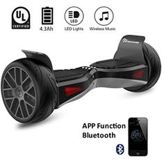 EVERCROSS Electric Self Balancing Scooter AllTerrain 85 Alloy Wheel DualMotor Certified OffRoad Hoverboard Black -- To view further for this item, visit the image link. (This is an affiliate link) Bluetooth, Skateboard, All Terrain Tyres, Energy Conservation, Look Good Feel Good, Best Build, Music App, Alloy Wheel, Tricycle