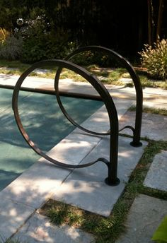 Handrails Stairs Etc On Pinterest Pebble Beach Railings And Exterior Stairs