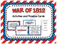 20 best war of 1812 images on pinterest war of 1812 american free war of 1812 activities and timeline cards product from to the square publicscrutiny Gallery