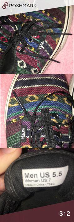 Vans aztec pattern vans,  been worn a good amount of times, decent condition Vans Shoes Sneakers