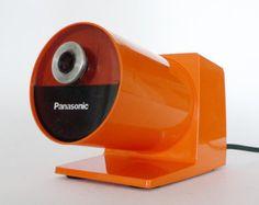 Panasonic Pana Point Pencil Sharpener in Orange from Pop Barn via @Etsy #modern #pop #orange #pencil #desk #office #panasonic #cool #design #industrial_design