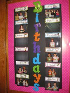 fall birthday bulletin board ideas   Found on ericabohrersclassroom.shutterfly.com