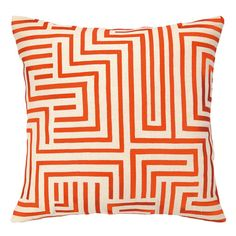 The graphic design of this embroidered throw pillow scores. | $79