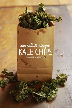 Sea Salt and Vinegar Kale Chips
