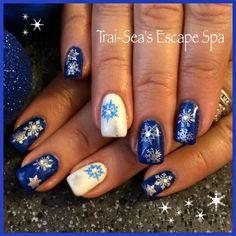 Winter Snowflake Nails By Trai-Sea's Escape Spa