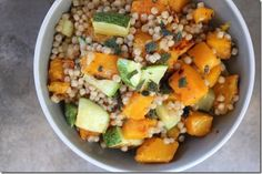 Butternut Squash + Zucchini Couscous by Yes, I want cake.