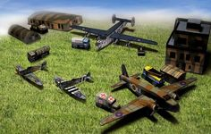Royal Air Force Base Diorama Papercraft - by Rawen And M. Tichy - == -  Rawen and M. Tichy, designers of this beautiful diorama, created it as a tribute to czech pilots in RAF (Real Ais Force) during the WW2. All the pieces are in 1/250 scale and are perfect for Dioramas, School Works, RPG and Wargames.
