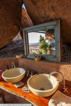 The bathroom at Camp Kipwe, Twyfelfontein, Namibia (Southeastern bantu)