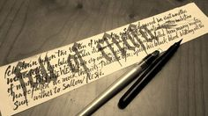 Calligraphy & lettering (various) on Behance