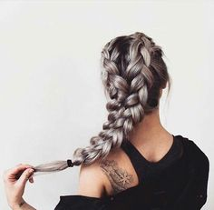 Grey and ash blonde hair Braided hairstyle ideas Long hairstyle ideas