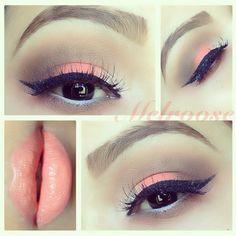 Peachy makeup look @Melanie Roose