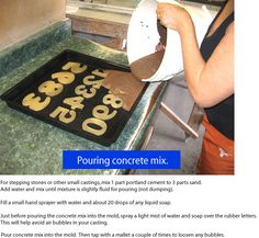 cement garden molds | ... & Numbers for concrete molds, cement molds, custom rubber logos too