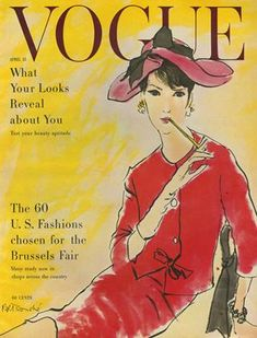 Publication Name | April 15 1958 Fashion History, World Of Fashion, Vogue Wallpaper, Vogue Magazine Covers, Vogue Covers, Feeling Excited, New Readers, Vogue Korea, Natural Eyes