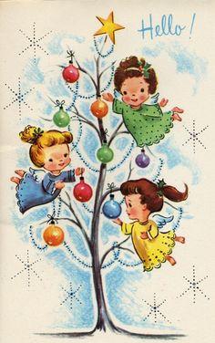 Vintage Christmas Card Artwork