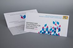 Design of invitations for the prize ceremony for Bayerischer Staatspreis für Nachwuchsdesigner 2012. By Rookman / studio. #rookman #bsp2012 #staatspreis #nachwuchsdesigner #design #invitation #prize