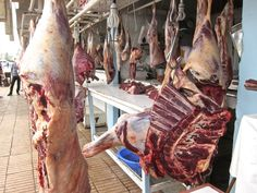 Men Who Like to Cook - David Latt: Morocco, Closer than Paris and a Lot More Exotic - an open air butcher shop on the highway to Fez