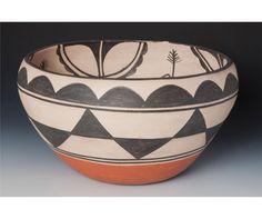 Native American Large Santo Domingo Bowl by Robert Tenorio (1950-), #823