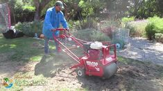 Aerating lawn in progress-SB Evolution Landscape Garden Maintenance, Landscaping Company, Santa Barbara, Outdoor Power Equipment, Evolution, Lawn, Landscape, Scenery, Yard Maintenance