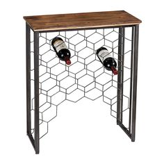Sterling Industries 138-114 Wood and Metal Small Console with Wine Rack