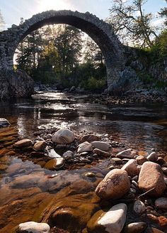 The oldest bridge in the Highlands of Scotland at Carrbridge.