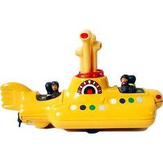 The Beatles Yellow Submarine - Corgi Toys CC05404 - Arte em Miniaturas ❤ liked on Polyvore featuring fillers