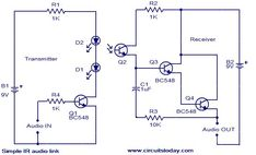 11 best reza images electronics projects, electronic circuit, basssimple ir audio link electronic circuits and diagrams electronic projects and design