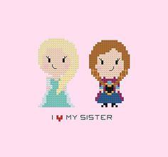 I Love My Sister -Frozen Pattern   by goodmorningmaui