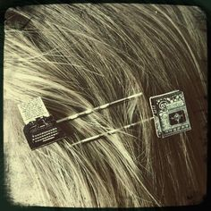 Book Lover Hair Pins (easily make these using scrapbooking pieces and gluing to bobbies)