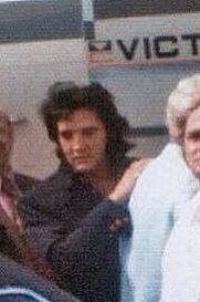 Elvis and Vernon (Elvis' hand is on his shoulder). I love the way Elvis looks in this photo, very carefree and relaxed