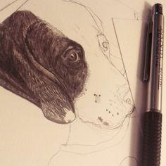 Dog & heart,  work in progress...♥♥♥