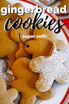 Make the best gingerbread cookie with this recipe that makes a soft and chewy gingerbread man. Top with powdered sugar or your favorite icing. This easy gingerbread cookie recipe is simply the BEST! # Easy Recipes for men New Year's Desserts, Christmas Desserts, Christmas Baking, Christmas Parties, Christmas Treats, Italian Christmas, Holiday Treats, Christmas Cookies, Christmas Time