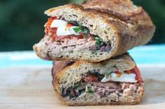 Pan Bagnat is the best tuna sandwich - EVER! We stand by our claim. And it is low FODMAP. Come check it out. This sandwich actually gets better as it sits. Lunch Recipes, Seafood Recipes, Healthy Recipes, Fodmap Diet, Low Fodmap, Best Tuna Sandwich, Pan Bagnat, Fodmap Recipes, Everyday Food