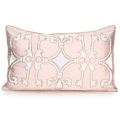 Fabric: Silk  The enchanting, slender column-like design adds an elegant and chic touch to this soon-to-be-named classic, almost heirloom-like, accent pillow. Making this pillow even more special, each bead is done by hand so each piece is truly one-of-a-kind.