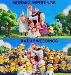 So true! Cute Indian Wedding Minions family pic :P