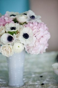 more anemones with peonies