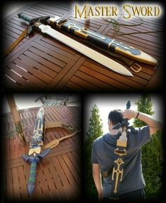 Master sword instructable Link Cosplay, Cosplay Diy, Cosplay Outfits, Cosplay Costumes, Zelda Master Sword, Link Costume, Cosplay Weapons, Nerd, Cosplay Tutorial