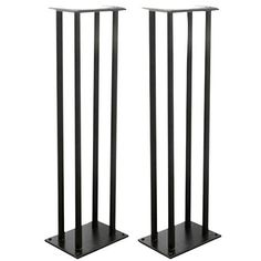 Pyle-Home PSTND14 One Pair of Heavy-Duty Steel Triple Support Bookshelf/Monitor Speaker Stand by Pyle. $50.24. From the Manufacturer                Use this pair of bookshelf speaker stand to keep your speakers stable and secure. Heavy-duty steel construction looks great, conceals cables, and optimizes the performance of your speaker by minimizing floor distortion. The columns can even be sand-loaded to deaden resonance and increase stability. Adjustable spikes on b...