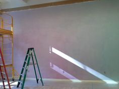 the north wall moves from blue into violet