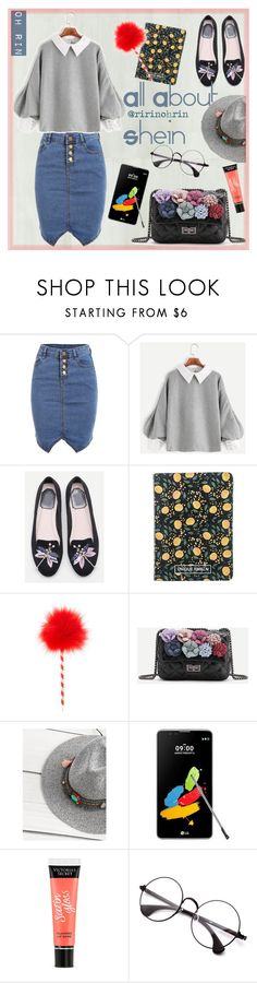 """grey denim from shein"" by rindularas on Polyvore featuring WithChic, H&M, LG and Victoria's Secret"
