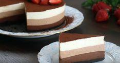 """Tort """"Trei Ciocolate"""", desertul ideal pentru iubitorii de ciocolată Mousse, Food Cakes, Cake Cookies, Tiramisu, Cake Recipes, Breakfast Recipes, Cheesecake, Deserts, Food And Drink"""