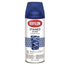 Krylon K09036000 Stained Glass Cobalt Blue Spray Paint, 11.5 oz.